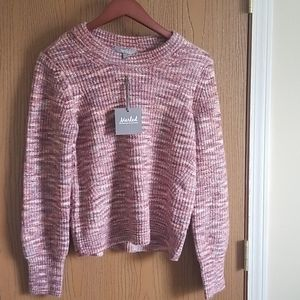 NWT Marled by Reunited Pink Sweater Size M